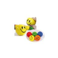 Stresszlabda - Emoji Smiley mosolygó fejek - 6,3 cm - Play with fun