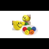 Stresszlabda - Emoji Smiley mosolygó fejek - 6,3 cm - Play with fun