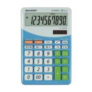 Asztali számológép - 10 számjegyes - SHARP EL-332 - Kék