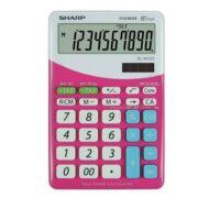 Asztali számológép - 10 számjegyes - SHARP EL-332 - Pink