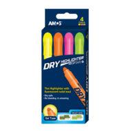 Száraz szövegkiemelő készlet - AMOS - 4 szín/csomag