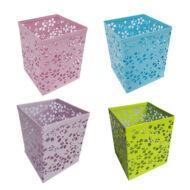 Asztali ceruzatartó - Mesh fémhálós szögletes virágmintás írószertartó - vegyes színekben