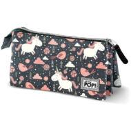 Oh my Pop Fantasy 3 rekeszes bedobálós tolltartó, kozmetikai táska- Unikornis