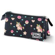 Oh my Pop Popnicorn 3 rekeszes bedobálós tolltartó, kozmetikai táska- Unikornis