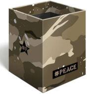 Asztali ceruzatartó - #Peace Brown Military terepmintás írószertartó