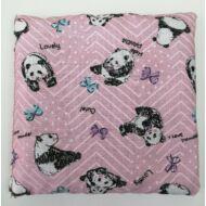 Babzsák 13x13 cm - rózsaszín pandás