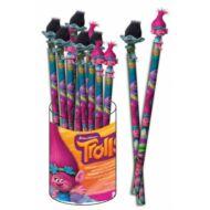 Trollok ceruza nagy gumifigurával - Ágas