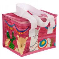 Láma / Alpaka uzsonnás táska thermo béléssel - rózsaszín