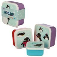 Pingvines uzsonnás doboz szett - 3 db-os uzsis doboz