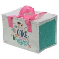 Sütis tortás uzsonnás táska thermo béléssel - nagy