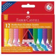 Zsírkréta -  Faber-Castell Jumbo radírozható háromszögletű - 12 szín