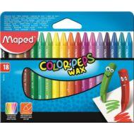 Maped Color Peps Wax háromszögletű zsírkréta - 18 szín