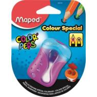 Kétlyukú speciális tompára hegyező tartályos ceruzafaragó  - Maped Color Peps - választható színek