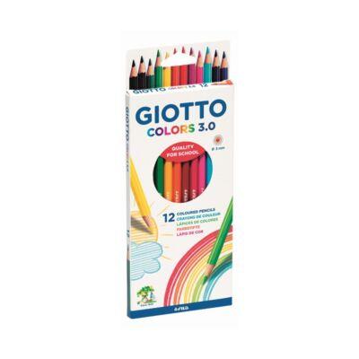 Színes ceruza készlet hatszögletű - GIOTTO Colors 3.0 - 12 szín