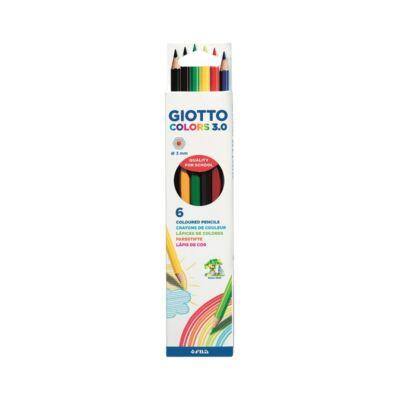 Színes ceruza készlet hatszögletű - GIOTTO Colors 3.0 - 6 szín