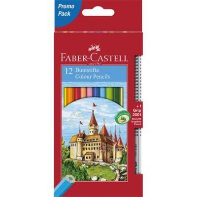 Színes ceruza készlet hatszögletű - 12 db/csomag - Faber-Castell Classic + 1 db grafitceruza