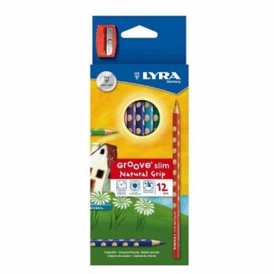 Lyra Groove színesceruza készlet hegyezővel