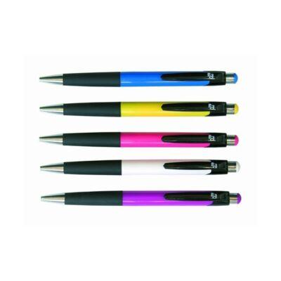 Spoko 0112 nyomógombos golyóstoll - 0,5 mm - vegyes színes tolltest