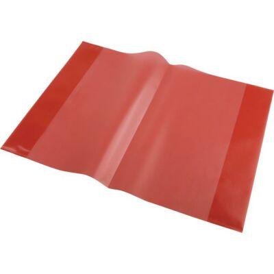 Piros bújtatós füzetborító A5 füzetekhez