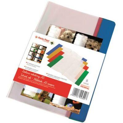 Füzetborító A5 - PVC - enyhén narancsos felület ajándék füzetcímkével - 8+8 szett Panta Plast