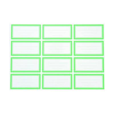Füzetcímke - zöld etikett 12 db/ív