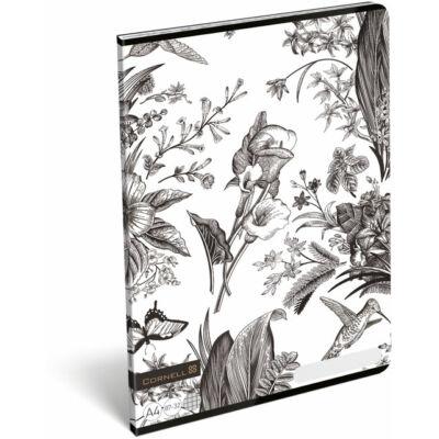 Cornell Kolibris virágos kockás füzet A4