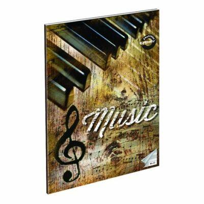 Retro Music hangjegyfüzet A4 zongora