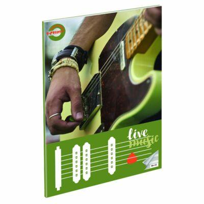 """Live Music hangjegyfüzet A4 - """"86-32"""""""
