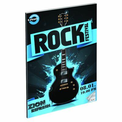 Rock Festival hangjegyfüzet A4 gitár