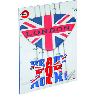 London hangjegyfüzet - A5 36-16 - Ready for Rock