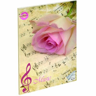 Rose A5 hangjegyfüzet énekfüzet