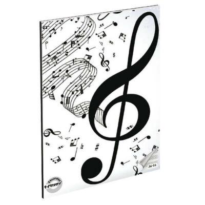 Violinkulcsos A5 hangjegyfüzet énekfüzet