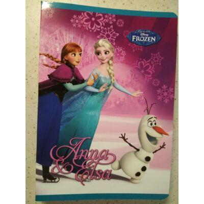 Jégvarázs Anna és Elsa 2. osztályos vonalas füzet