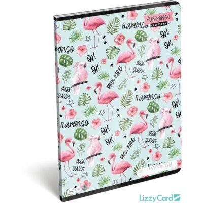Flamingós kockás füzet - A4 - 87-32 - Lollipop Funmingo
