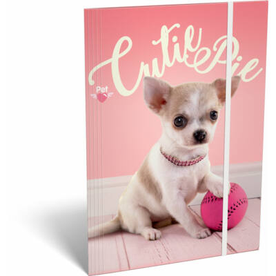 Pet Cutie Pie kutyás gumis mappa A5