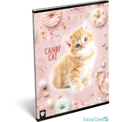 Cicás vonalas füzet - A4 - 81-32 - Kis Bagoly Candy Cat