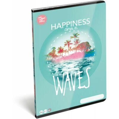 Good Vibes sima füzet - A4 - 80-32 - Wave