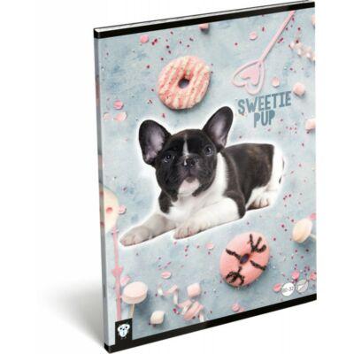 Kutyás sima füzet - A4 - 80-32 - Kis Bagoly Sweetie Pup