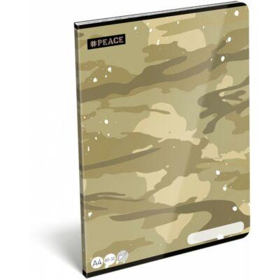 Terepmintás sima füzet - A4 - 80-32 - Peace Desert