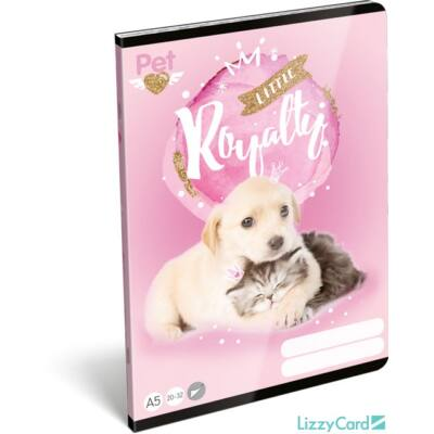Kutyás cicás sima A5 füzet Little Friends Pink