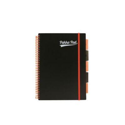 Regiszteres vonalas spirálfüzet - A4 200 lap - PUKKA Pad Project Book