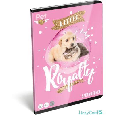 Kutyás cicás szótár A5 füzet Little Friends Pink