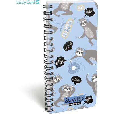 Lajháros spirál szótár füzet - 90x200 mm - Lollipop Sloth Vibes