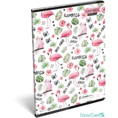 Flamingós vonalas füzet A4 Lollipop Funmingo