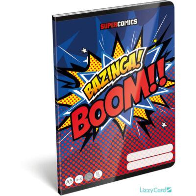 Bazinga vonalas füzet - Supercomics - A5 - 2. osztályos / 16-32