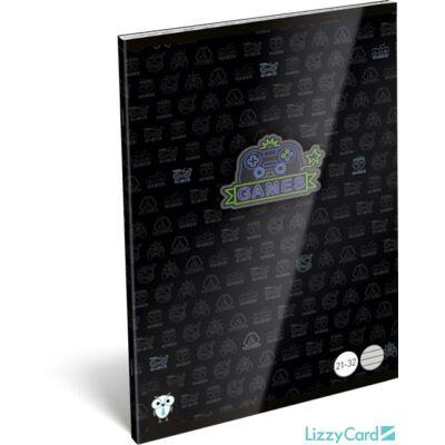 Videójátékos vonalas A5 füzet 21-32 - Kis Bagoly Games