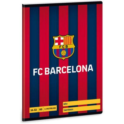FC Barcelona vonalas füzet - A5 - 2. osztályos / 16-32