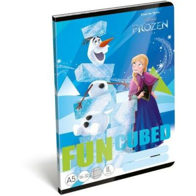 Jégvarázsos vonalas füzet 2. osztály Frozen Fun
