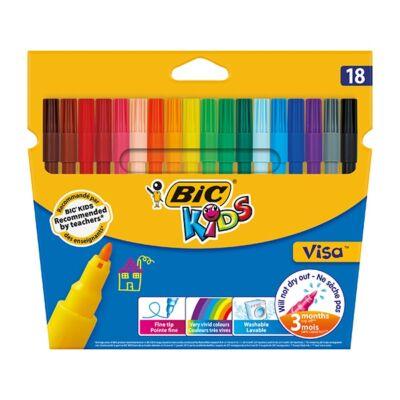 Filctoll készlet - BIC Kids Visa 880 - 18 szín