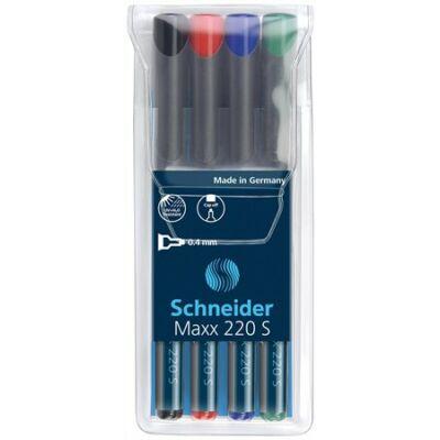 Alkoholos marker Schneider Maxx 220 S - 0,4 mm - alkoholos filctoll készlet